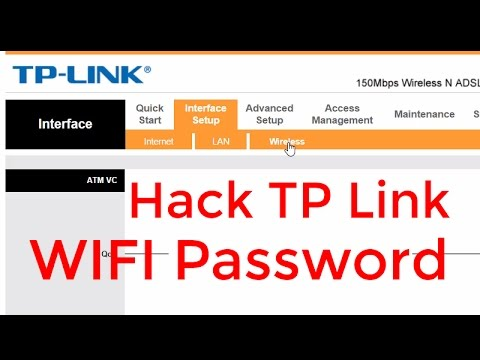 How to know or check TP Link ADSL Router wifi password