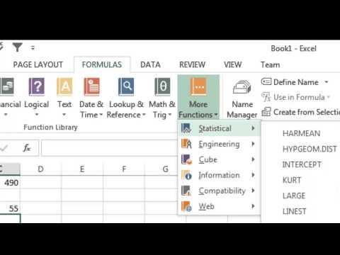 Excel 2013 Tutorial 6: Formulas Part 1