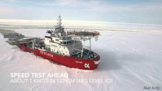 Oblique Icebreaker Baltika - Ice trials on 19 March - 10 April 2015