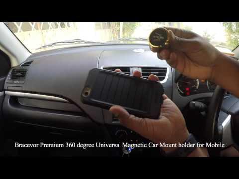 Review - Bracevor Premium 360 degree Universal Magnetic Car Mount holder for Mobile, tablet or GPS