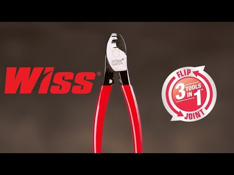 Wiss® Flip Joint: Cable Cutter - Sheath Knife - Wire Stripper In One Tool - 0890CSFW