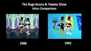 The Bugs Bunny & Tweety Show - Intro Comparison (1988 vs 1992)