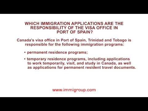 Which immigration applications are the responsibility of the visa office in Port of Spain?