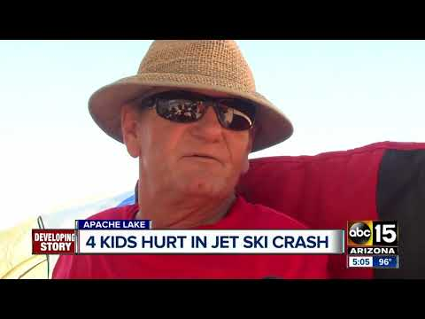 Four kids hurt in jet ski crash at Apache Lake Sunday