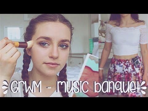 GRWM: Music Banquet | Makeup, Hair & Outfit