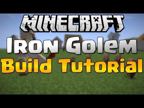 How to Build an Iron Golem - Minecraft Tutorial