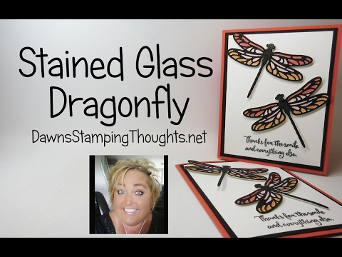 Stained Glass Dragonfly featuring Stampin'Up! products