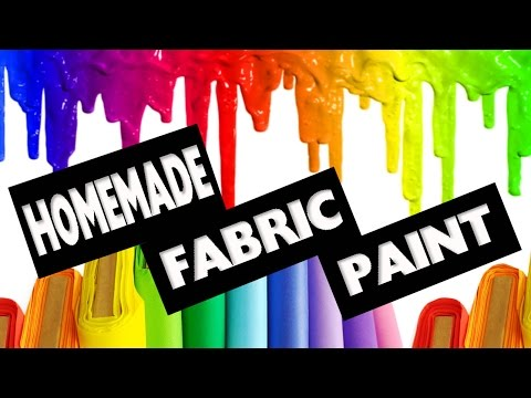 DIY | How to make Fabric Paint No Cook - Easy DIY Crafts - simplekidscrafts
