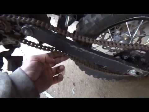 125cc SSR Pit Bike rebuild, swing arm and rear wheel install,