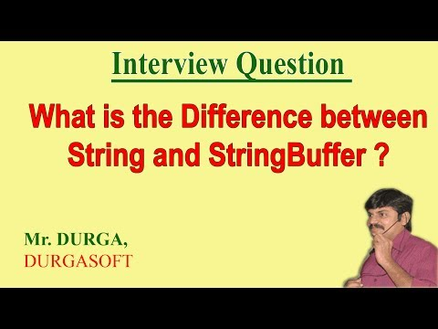 Differences between String  and StringBuffer