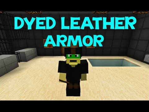 Minecraft Tutorial: How To Dye Leather Armor