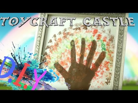 TC - DIY - Hand stamp fall tree with paint MessyDIY