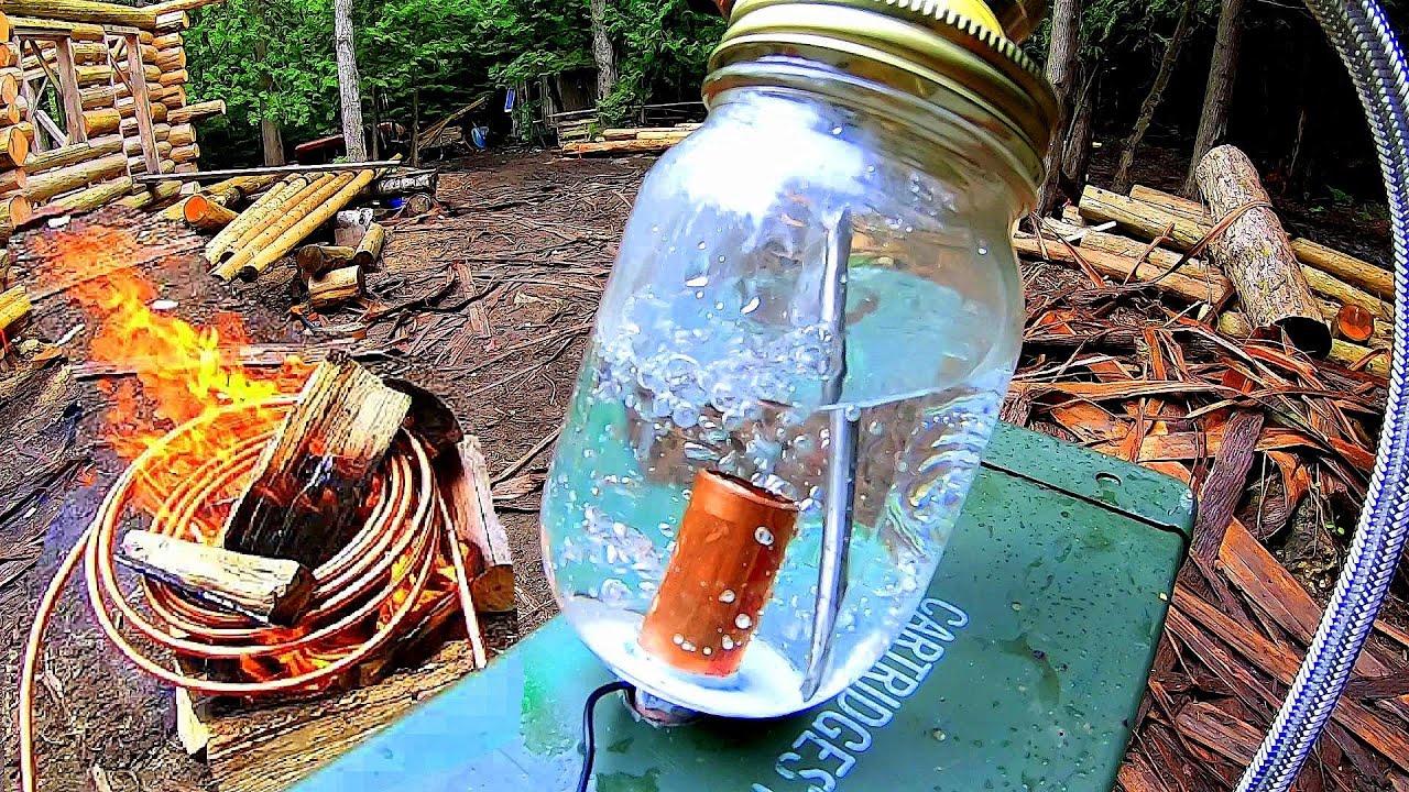 Off Grid Heating Prototype- Copper Coil Water Heater / Heat Exchanger / Radiant Heater