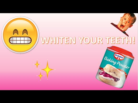 How to whiten your teeth with baking powder