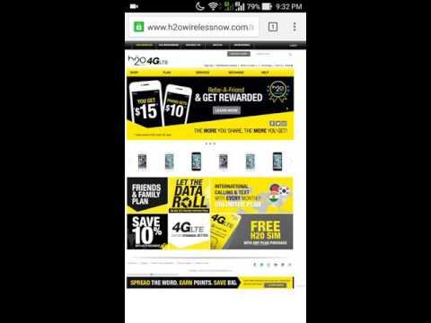 H2O Wireless 4G LTE SIM card configuration
