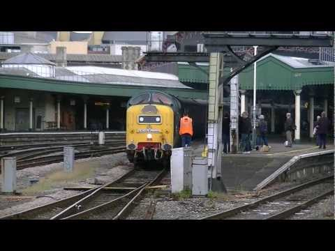 Deltic 55022 THUNDERS from BTM with a HUGE 2TONE on 'The Mazey Day Cornishman' 23/06/12