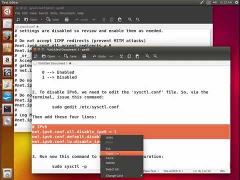 Disable IPv6 Under Ubuntu/Linux Mint