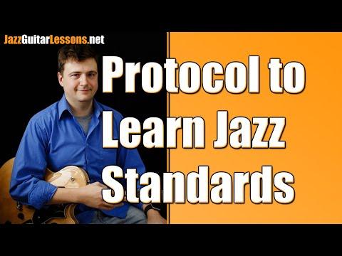 Protocol to Learn Standards - Jazz Guitar Vlog - September 22 2017