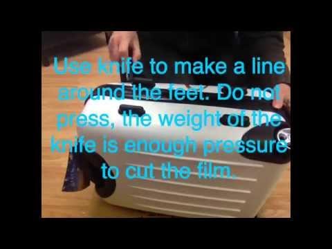 Mokka Luggage. How to peel off protective film.