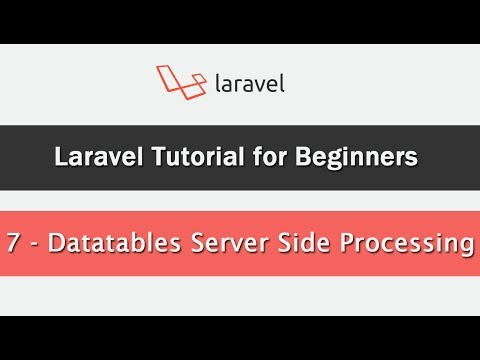 DataTables - Server-side Processing in Laravel using Yajra