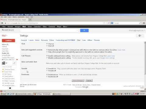 Customizing Chat Settings in Gmail