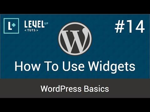 WordPress Basics #14 - How To Use Widgets