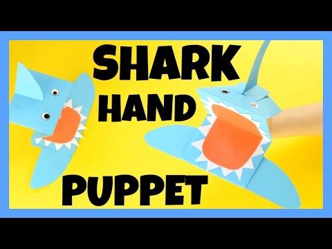 How to Make Shark Hand Puppet - paper craft idea