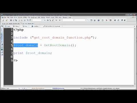 PHP - How to Get the Root Domain Name from the URL of a Page (HOST)