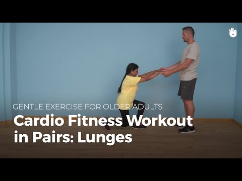 Cardio Exercise in Pairs: Lunges | Exercise for Older Adults