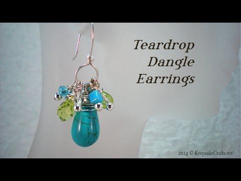 Teardrop Dangle Earrings Tutorial
