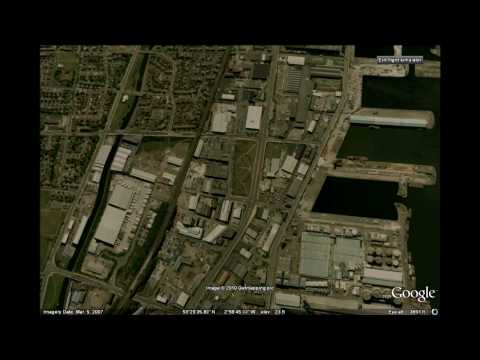UK virtual Fly by - Google Earth Flight mode - Liverpool