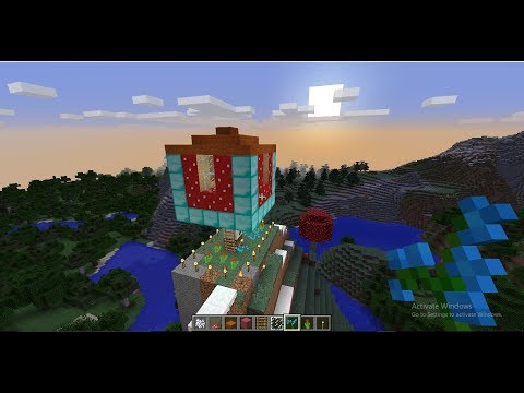 How to build Mushroom house in minecraft