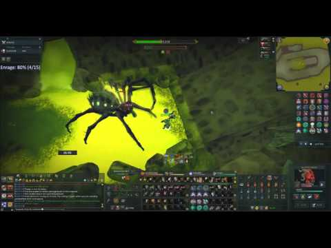 Melee Araxxor to 300% Enrage in 1 Invent [No Food]