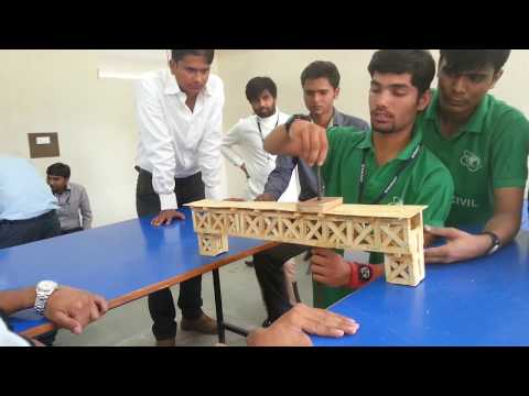 Popsicle stick/Ice cream stick truss bridge model bears 250 kg load SUBSCRIBE now for more.
