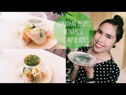 Ramadhan Recipes! Ep. 1 | Vietnamese Rice Paper Rolls | Rustyshoes92