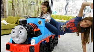 Having Fun With  Train And Little  Bus