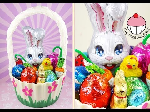 Fully Edible CHOCOLATE Easter Basket! No Bake Easter Treats by Cupcake Addiction