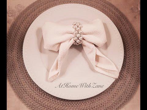 🎀Bow Napkin Tutorial- How to Fold a Napkin Into a Beautiful Bow