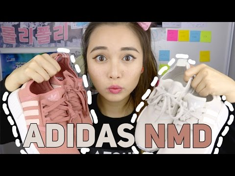 Adidas NMD R1 Women's UNBOXING and REVIEW | Raw Pink & Talc Colourways