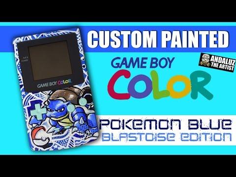 DIY Custom Painted Gameboy Color (Pokemon Blue Edition)
