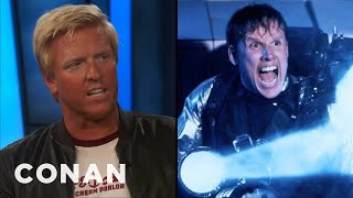 """Jake Busey Remembers Visiting His Dad On The """"Predator 2"""" Set  - CONAN on TBS"""