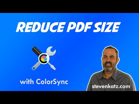 How to Reduce the File Size of a pdf Using ColorSync Utility