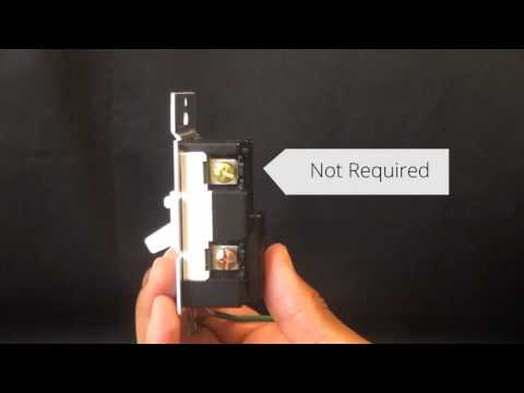 Wiring a 3 Way Dimmer in a Single Pole Application (with Screw Terminals)