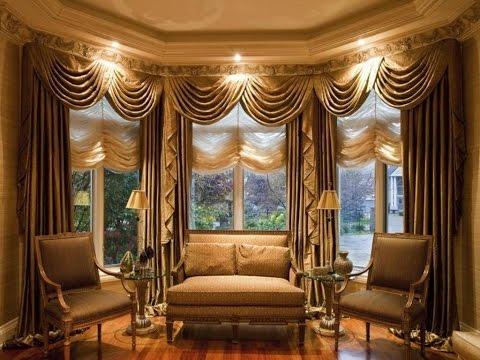 Elegant Curtains For Large Window Treatment