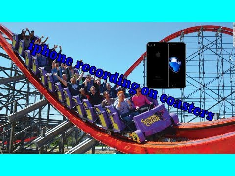 Smart phone recording on roller coasters
