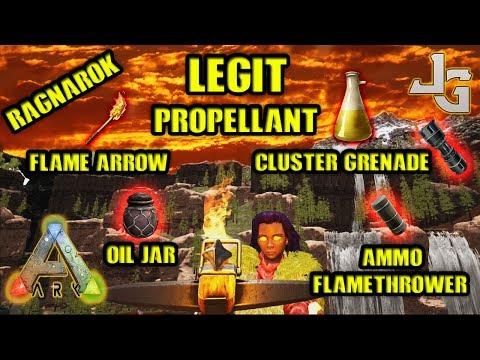 ARK - Legit Propellant - Flame Arrow - Cluster Grenade etc. - Ragnarok Map - 2017