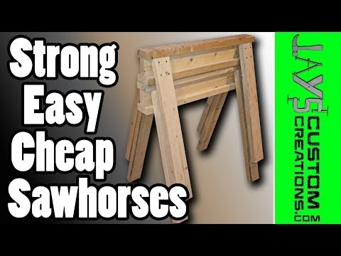 Strong, Cheap, Stackable Sawhorses - 090