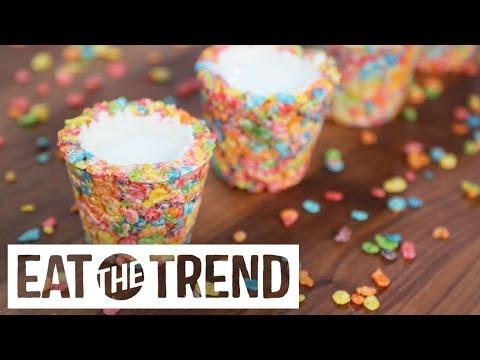 Fruity Pebbles Cereal Milk Shots | Eat the Trend