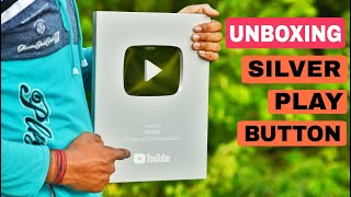 Unboxing Silver Play Button || YouTube Creator Award - VisioNil