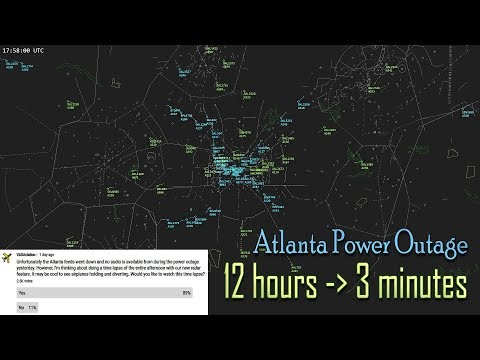 [TIME LAPSE] Atlanta power outage | Entire afternoon radar view